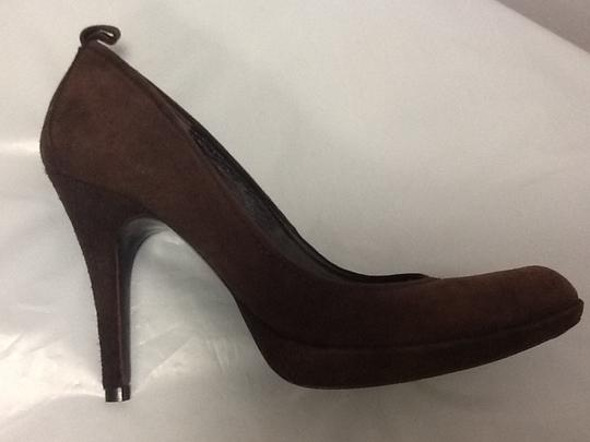 Pedro Garcia Suede Stiletto European Chic Brown Pumps Image 3