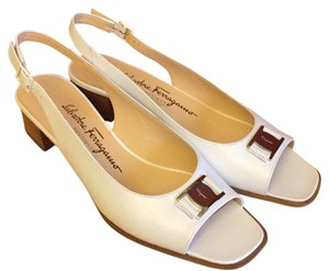 Salvatore Ferragamo Leather white Sandals