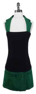Frankie Morello short dress Green/Black Wool on Tradesy