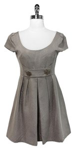 Nanette Lepore short dress Taupe Striped on Tradesy