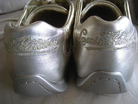 Louis Vuitton Limited Edition Rare Mirror Metallic Silver / Light Gold Athletic Image 7