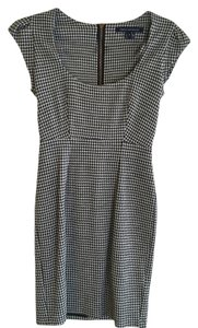 French Connection Houndstooth Gold Hardware Dress
