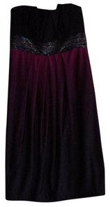 Sequin Hearts short dress Ombre wine to dark purple/black on Tradesy