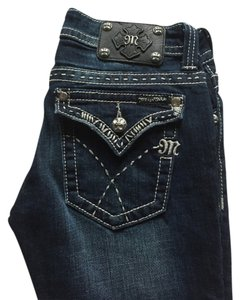 Miss Me Crystals Studded New Boot Cut Jeans-Distressed