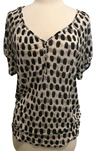 Weston Wear Anthropologie Top Black and White