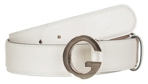 Gucci Gucci GG Mystic White Leather G Buckle Belt Size 36