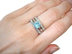 Nordstrom triple stacked turquoise crystal rings
