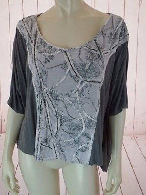 Preload https://img-static.tradesy.com/item/14203474/deletta-anthropologie-top-gray-pullover-viscose-thin-knit-batwing-bead-sequins-0-0-650-650.jpg
