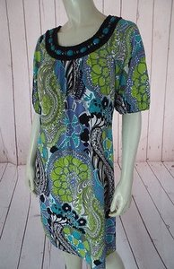 Maggy London short dress Multicolored Poly Spandex Stretch Knit Pullover Floral Chic on Tradesy
