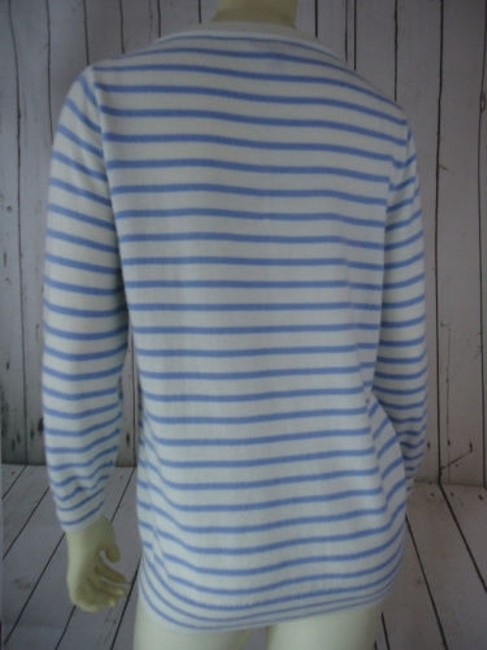 J.Crew Striped Merino Wool Butterflies Unique Chic Sweater Image 10