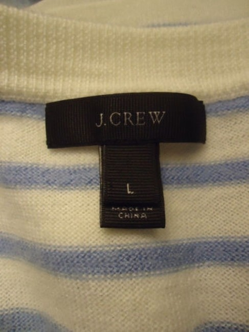 J.Crew Striped Merino Wool Butterflies Unique Chic Sweater Image 11