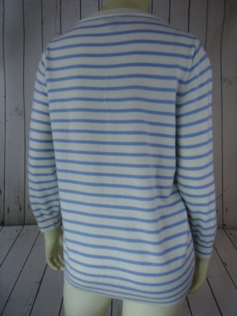 J.Crew Striped Merino Wool Butterflies Unique Chic Sweater Image 6