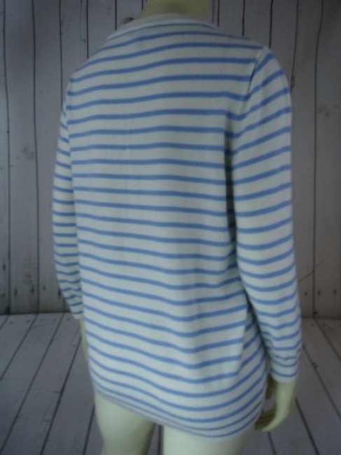 J.Crew Striped Merino Wool Butterflies Unique Chic Sweater Image 8
