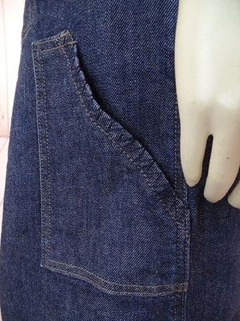J. Jill Stretch Cotton Lycra Zip Button Front Pockets Boho Hot Skirt Blue Wash Denim Image 2