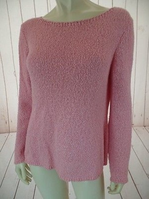 Talbots Viscose Linen Stretch Seethru Knit Made In Italy Sweater Image 1