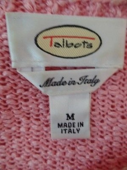 Talbots Viscose Linen Stretch Seethru Knit Made In Italy Sweater Image 10