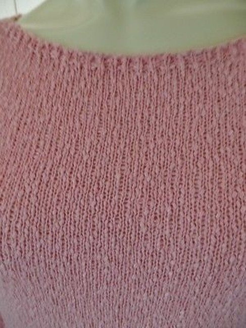 Talbots Viscose Linen Stretch Seethru Knit Made In Italy Sweater Image 2