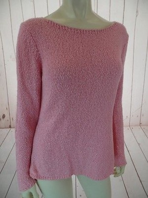 Talbots Viscose Linen Stretch Seethru Knit Made In Italy Sweater Image 6