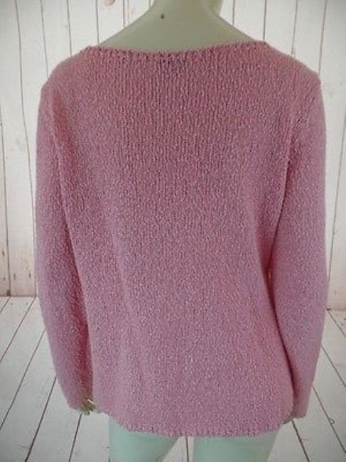 Talbots Viscose Linen Stretch Seethru Knit Made In Italy Sweater Image 7