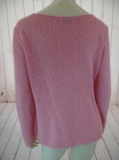 Talbots Viscose Linen Stretch Seethru Knit Made In Italy Sweater Image 9
