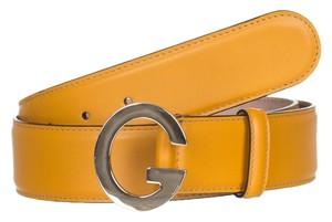Gucci Gucci GG Orange Leather G Buckle Belt Size 32