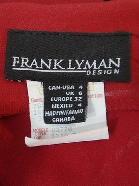 Frank Lyman Rayon Nylon Elastane Blend Pleat Back Straight Skirt Burnt Sienna Image 11