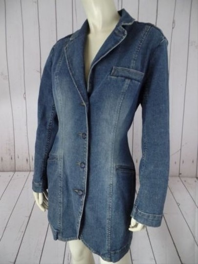 48614fa21b71 Telluride Clothing Co Jean Jacket Long Antique Denim Blue Faded Hot  #14203630 - Jackets well