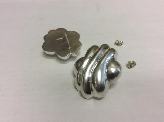 Other Wavy Design 925 Sterling Silver Stud Earrings Image 4