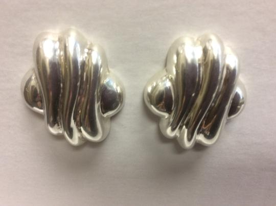 Other Wavy Design 925 Sterling Silver Stud Earrings Image 6