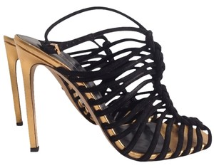 Gucci Black/Gold Sandals