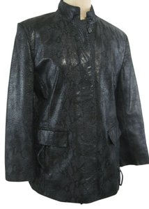 Bernardo Leather Snakeskin Leather Jacket