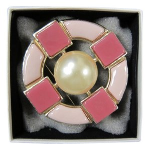 Chanel Chanel Pearl Painted Glass and Rose Stone Brooch