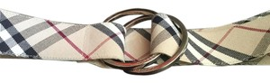 Burberry Burberry Double Ring HouseCheck Fabric Belt