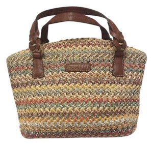 Rosetti Leather Fabric Satchel in Multicolor