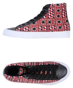 MOA USA Artsy Italian Leather Trainers Red Athletic