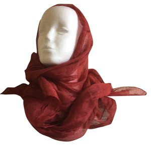Other Rusty Red Shawl Scarf 70 X 26 Hint-of-shine