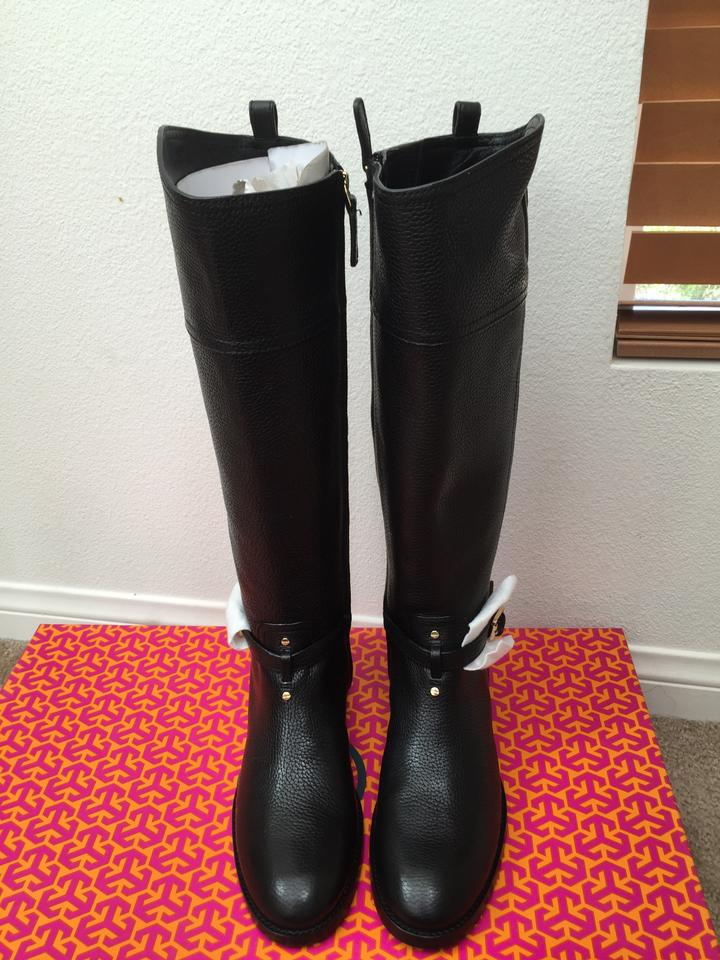 8 Booties Tory Boots Black Tumled 5m Riding Marlene Leather Burch zzEn5qW7