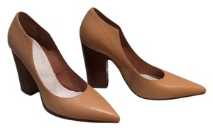 Maison Margiela New Asymmetrical Tan Pumps