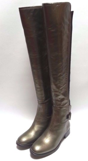 Tory Burch Leather Olive Metallic Boots Image 1