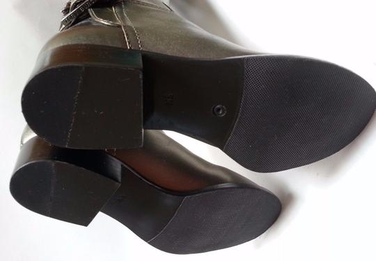 Tory Burch Leather Olive Metallic Boots Image 10