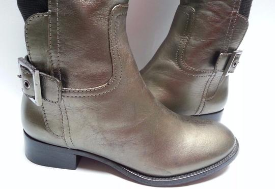 Tory Burch Leather Olive Metallic Boots Image 5
