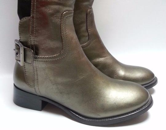 Tory Burch Leather Olive Metallic Boots Image 6