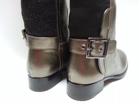 Tory Burch Leather Olive Metallic Boots Image 7