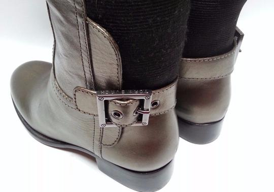 Tory Burch Leather Olive Metallic Boots Image 8