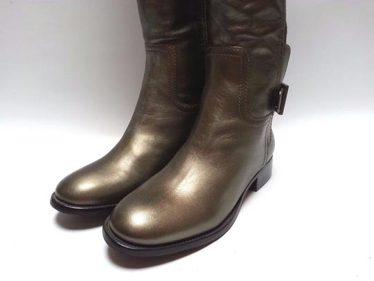 Tory Burch Leather Olive Metallic Boots Image 9