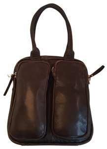 Latico Double Pocket Lambskin Tote in Chocolate