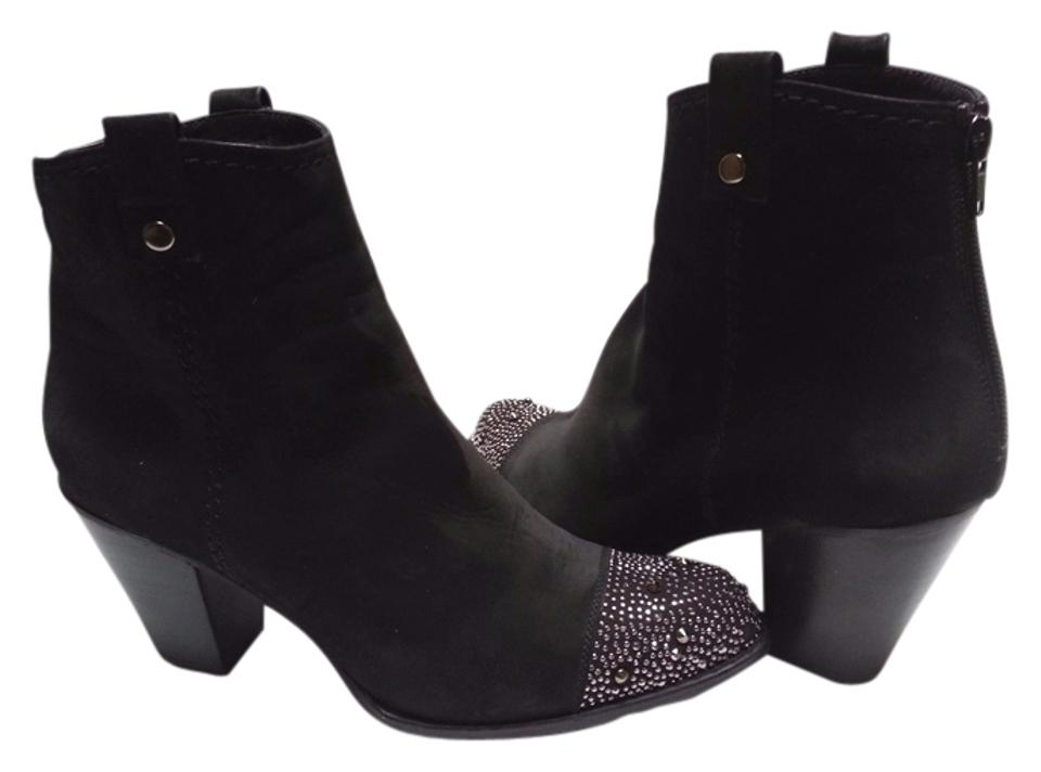 89fdfe988761 Stuart Weitzman Black Suede Ankle Boots Booties Size US 10 Regular ...