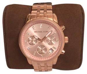 Michael Kors NEW! Chronograph W/Date Rosegold & Crystals Michael Kors MK6077