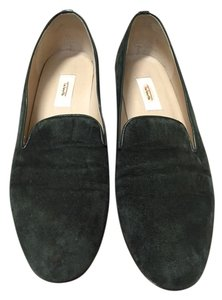 Talbots Suede Leather Trim Hunter Green Flats