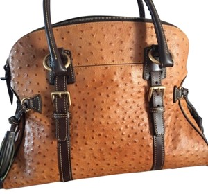 Dooney and Bourke Ostrich Leather Satchel with matching wallet. Shoulder Bag